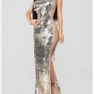 Gold Sequin Sexy Dress size XL